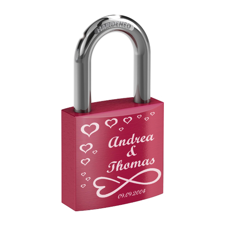 Indexbild 14 - Liebesschloss mit Lasergravur - Hochzeit Valentinstag Geschenk Jahrestag