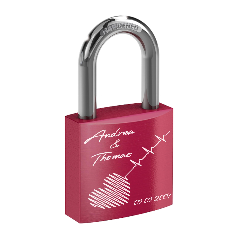 Indexbild 13 - Liebesschloss mit Lasergravur - Hochzeit Valentinstag Geschenk Jahrestag