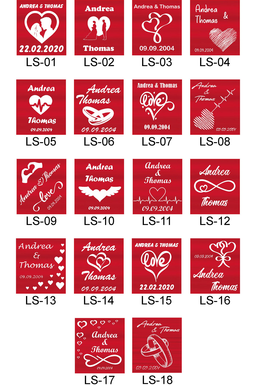 Indexbild 18 - Liebesschloss mit Lasergravur - Hochzeit Valentinstag Geschenk Jahrestag