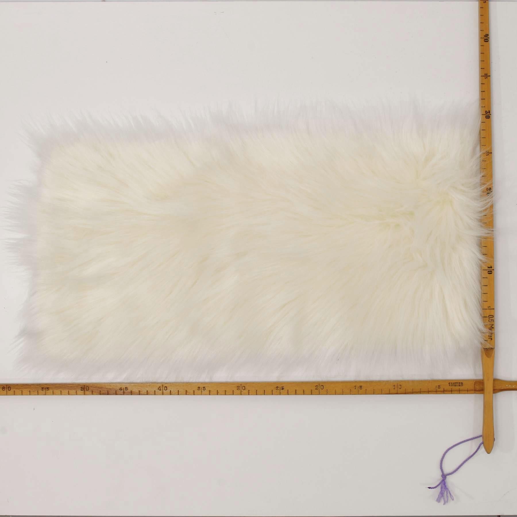 Trozo de tela pelo largo felpa blanco crema psíquico fell imitacion de peluche de tela 20 x 50cm