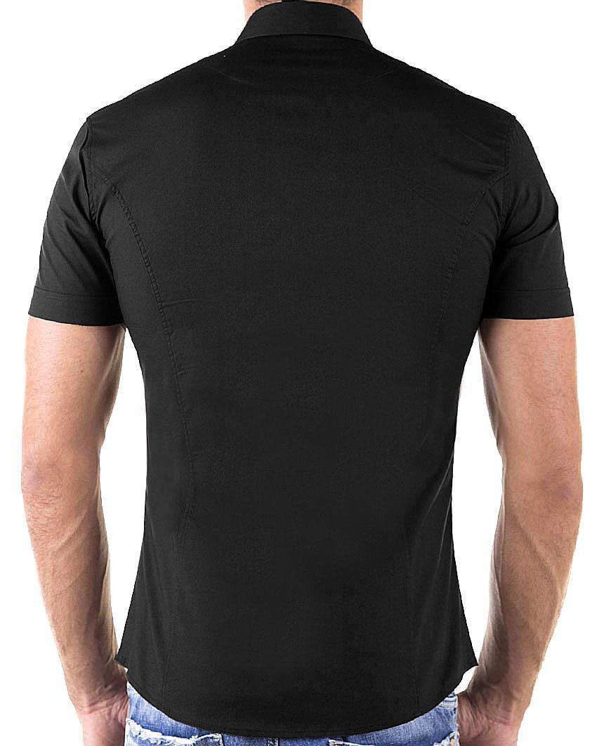 Redbridge-Herren-Hemd-Hemden-Freizeithemd-Slim-Fit-Kurzarmhemd-Tailliert-R-2156 Indexbild 23
