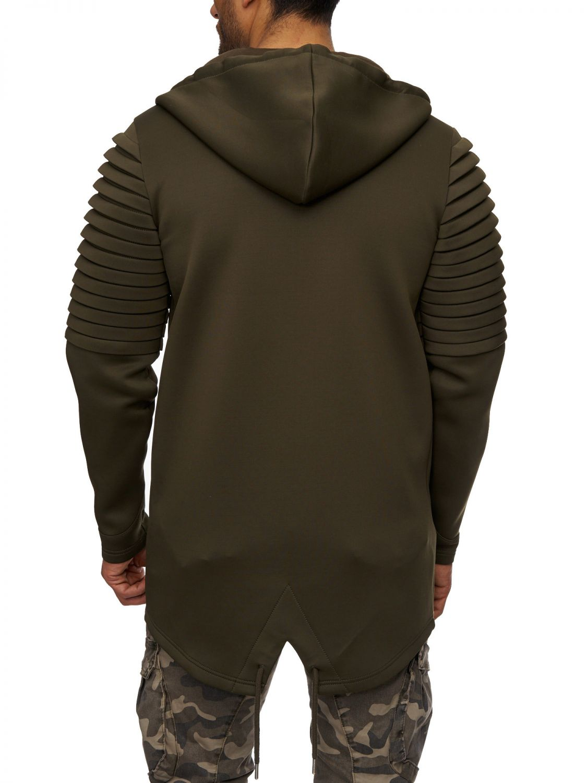 Herren Jacke Übergangsjacke Cardigan Sweatjacke Oversize Neopren ... 35aa0f78c9