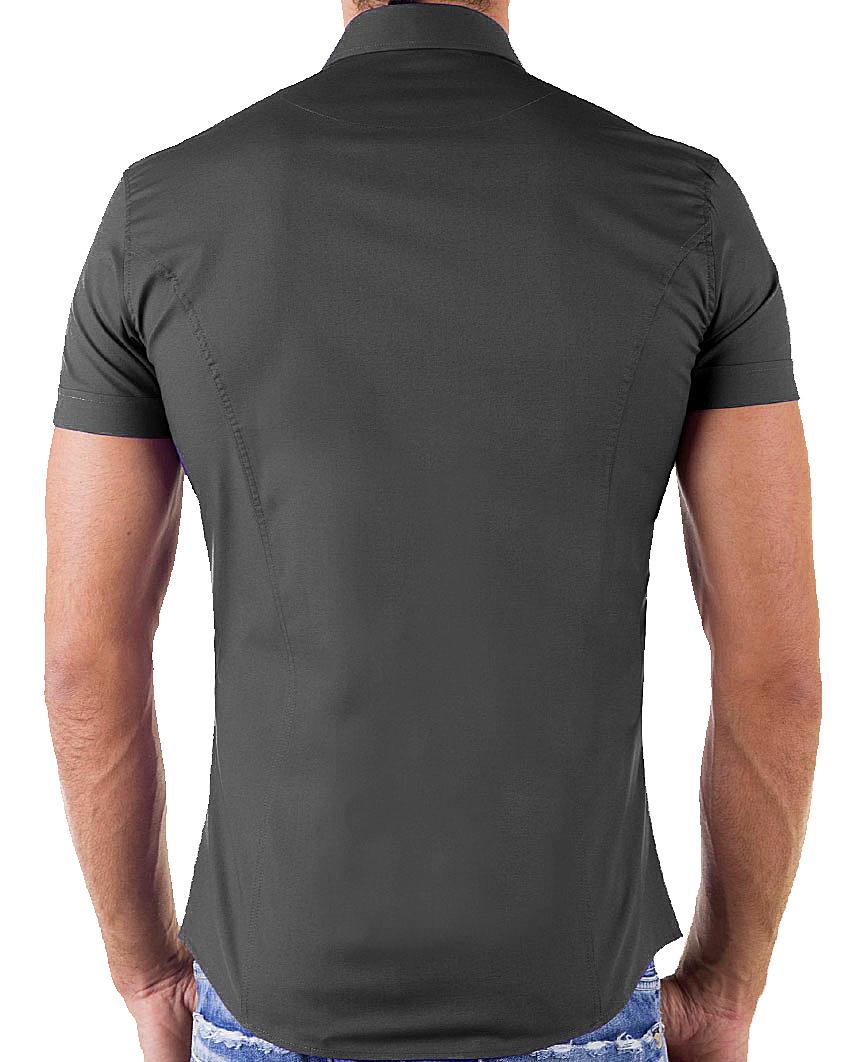 Redbridge-Herren-Hemd-Hemden-Freizeithemd-Slim-Fit-Kurzarmhemd-Tailliert-R-2156 Indexbild 16