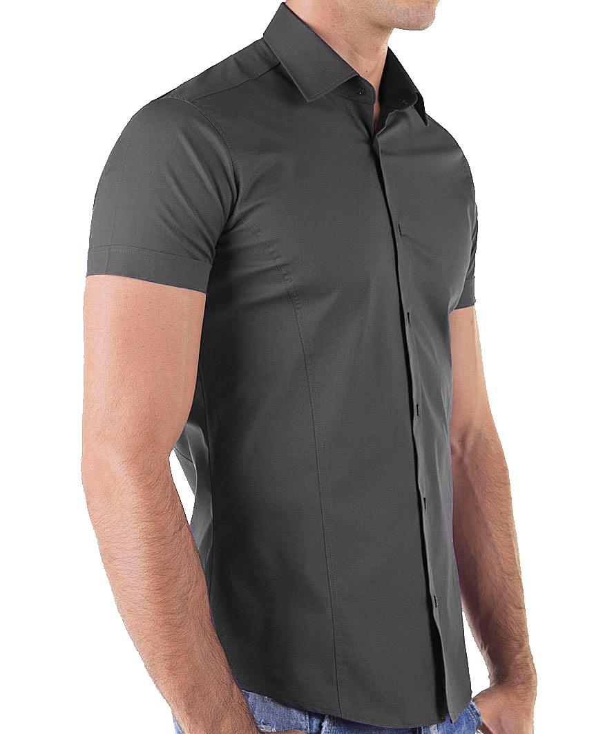 Redbridge-Herren-Hemd-Hemden-Freizeithemd-Slim-Fit-Kurzarmhemd-Tailliert-R-2156 Indexbild 14