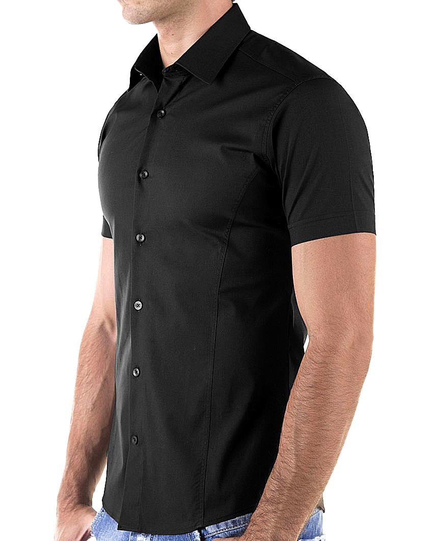 Redbridge-Herren-Hemd-Hemden-Freizeithemd-Slim-Fit-Kurzarmhemd-Tailliert-R-2156 Indexbild 22