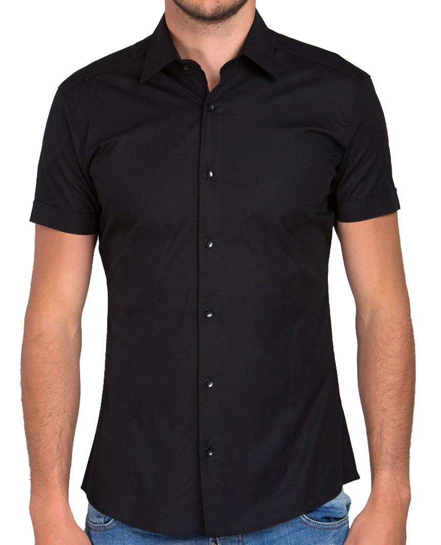 Redbridge-Herren-Hemd-Hemden-Freizeithemd-Slim-Fit-Kurzarmhemd-Tailliert-R-2156 Indexbild 24