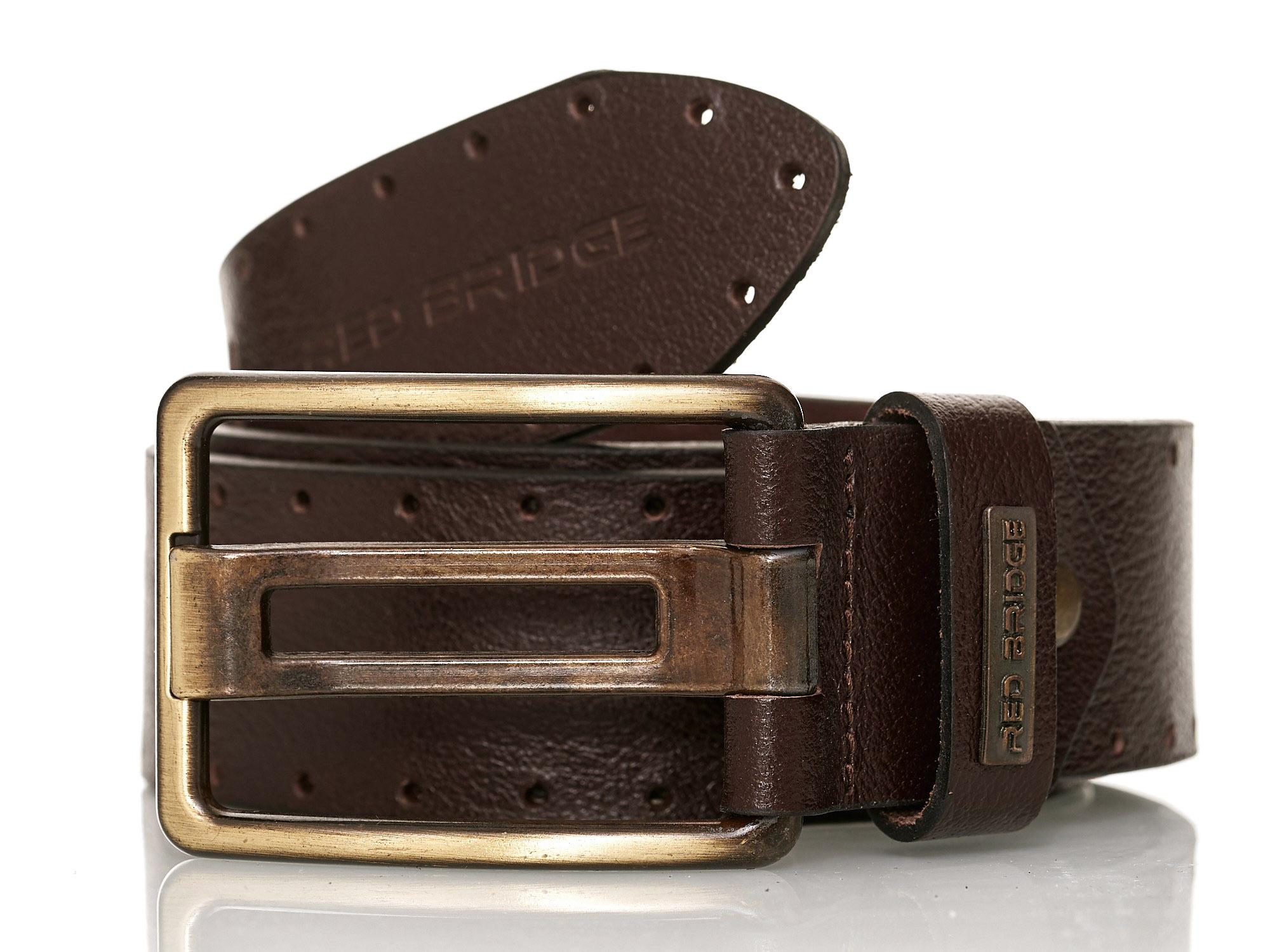 Redbridge Men/'s Leather Belt Real Leather Leather Belt Belt Premium Width r-3028