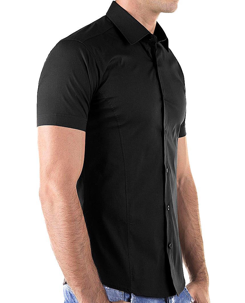 Redbridge-Herren-Hemd-Hemden-Freizeithemd-Slim-Fit-Kurzarmhemd-Tailliert-R-2156 Indexbild 21