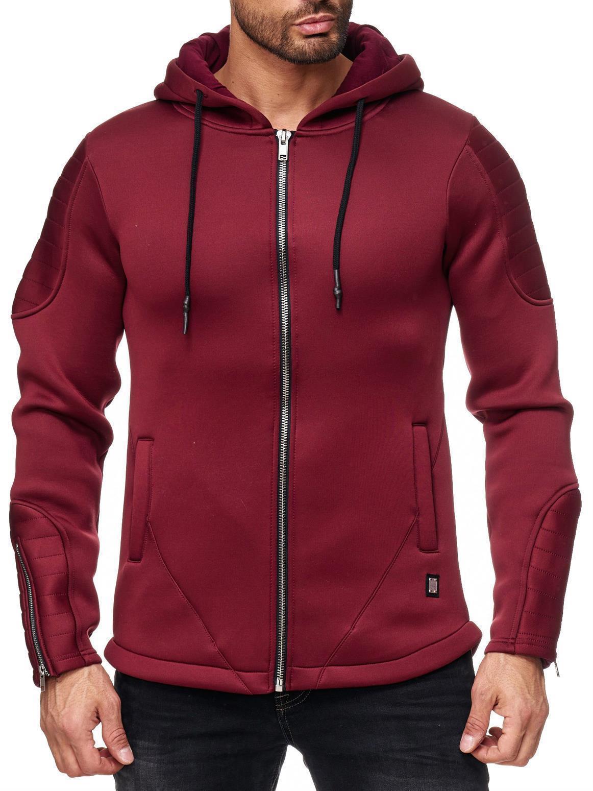 Redbridge-Herren-Jacke-Sweatjacke-Ubergangsjacke-Kapuze-Jacket-Neopren- 2d604b85e1