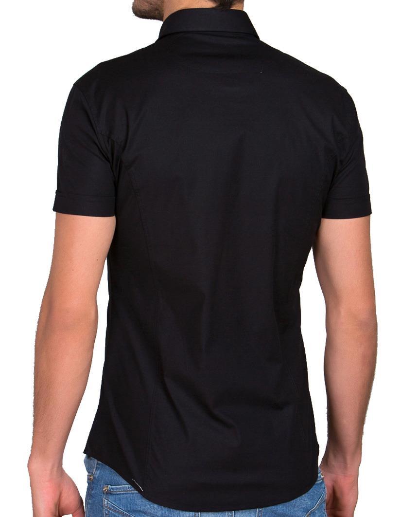 Redbridge-Herren-Hemd-Hemden-Freizeithemd-Slim-Fit-Kurzarmhemd-Tailliert-R-2156 Indexbild 27