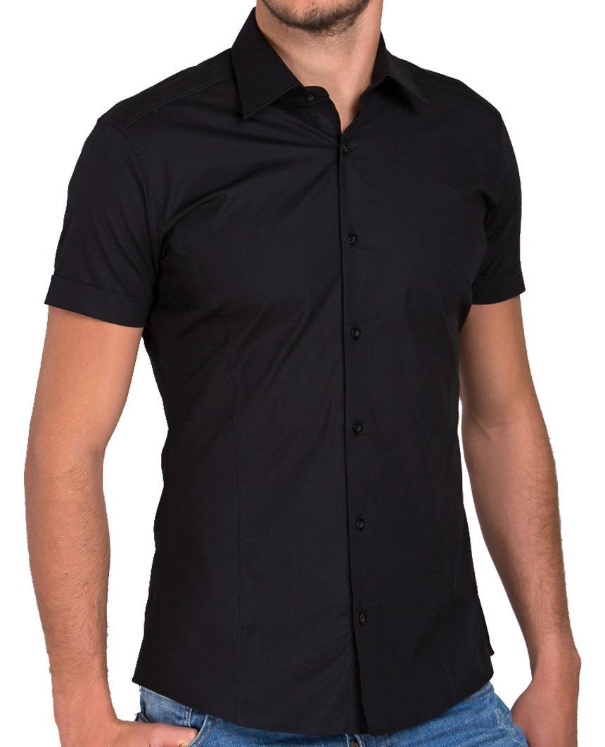 Redbridge-Herren-Hemd-Hemden-Freizeithemd-Slim-Fit-Kurzarmhemd-Tailliert-R-2156 Indexbild 25