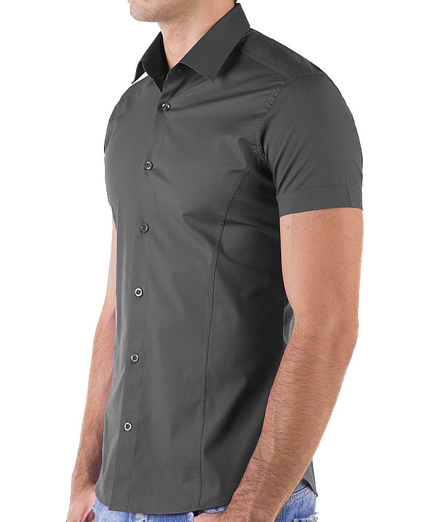 Redbridge-Herren-Hemd-Hemden-Freizeithemd-Slim-Fit-Kurzarmhemd-Tailliert-R-2156 Indexbild 15