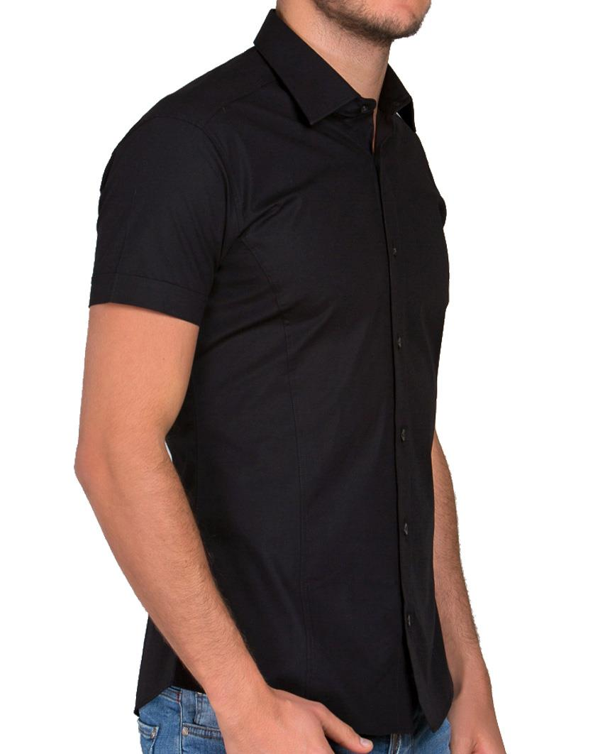 Redbridge-Herren-Hemd-Hemden-Freizeithemd-Slim-Fit-Kurzarmhemd-Tailliert-R-2156 Indexbild 26