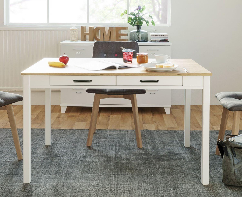 esstisch skandinavisch k chentisch holztisch schweden wei honig eiche 120x80 ebay. Black Bedroom Furniture Sets. Home Design Ideas