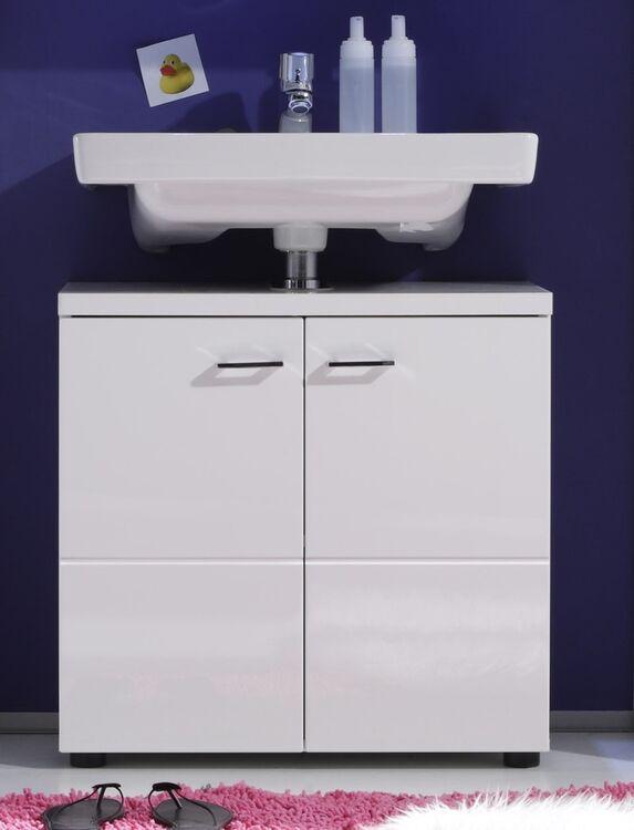 badezimmerset nightlife badmöbel weiß hochglanz modern