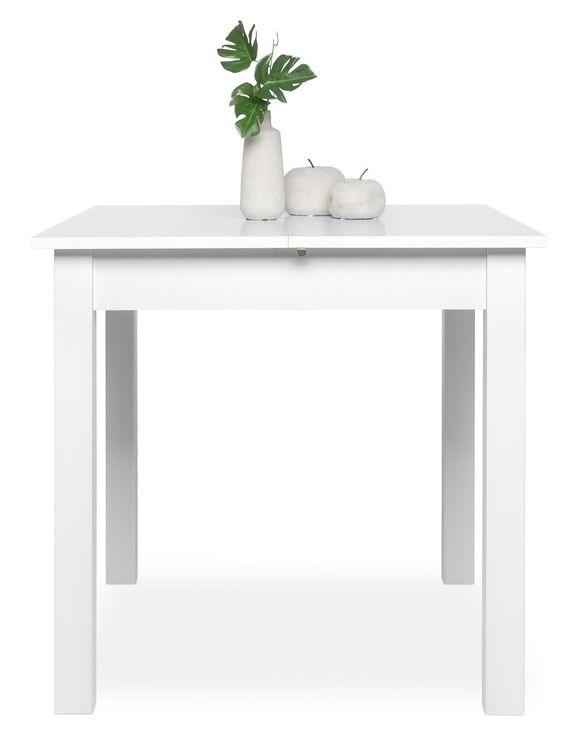 esstisch klein ausziehtisch ausziehbar k chentisch wei 80 120 x80 ebay. Black Bedroom Furniture Sets. Home Design Ideas