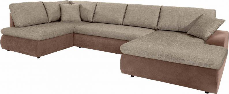 Wohnlandschaft Indie Hocker U Form Sofa Microfaser Struktur