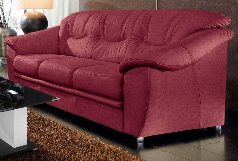 3 Sitzer Savona Luxus Microfaser Altara Nubuck Karminrot By Arbd