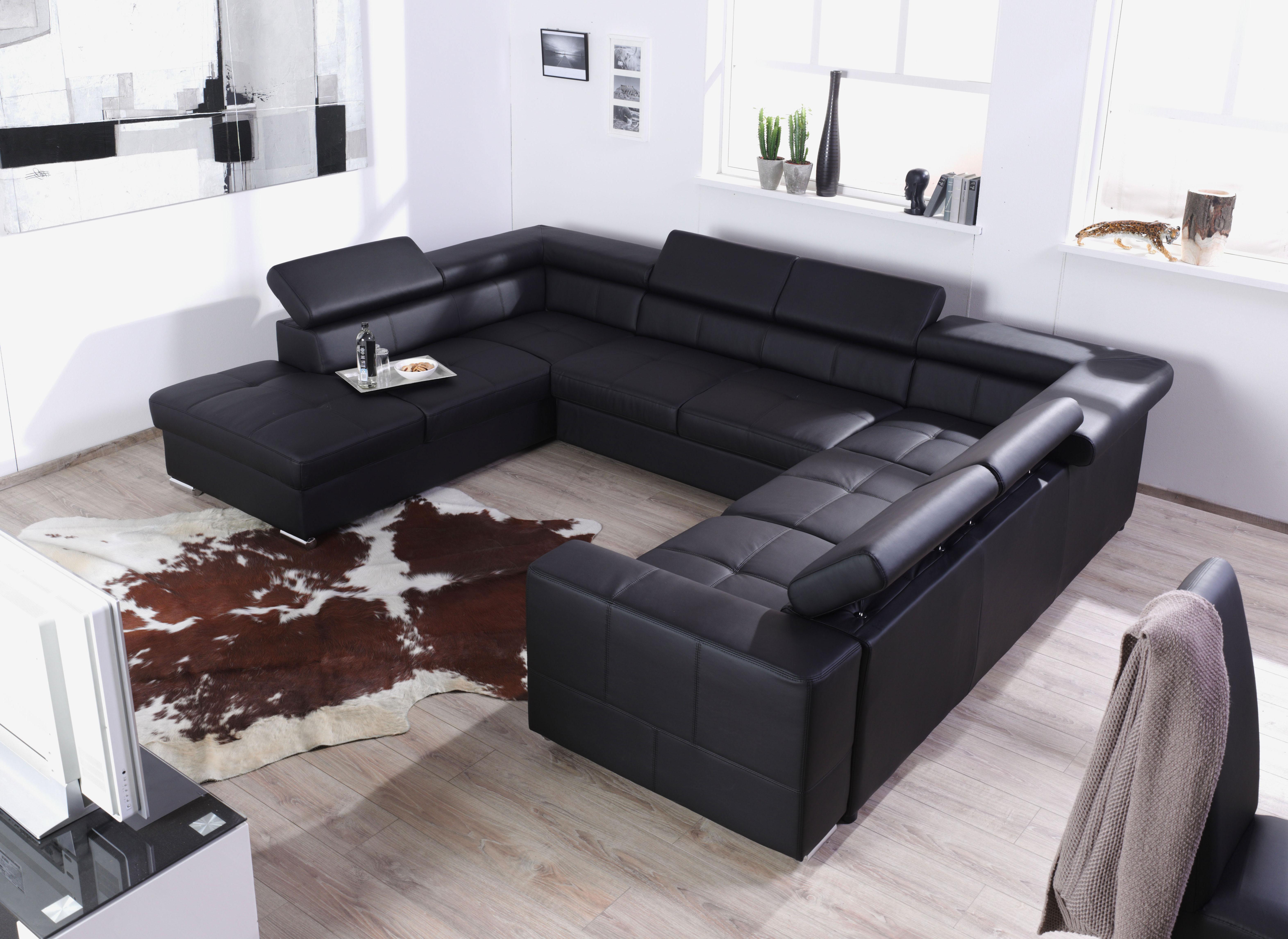 xxl wohnlandschaft couch cary u form versch farben und ausf hrungen ebay. Black Bedroom Furniture Sets. Home Design Ideas
