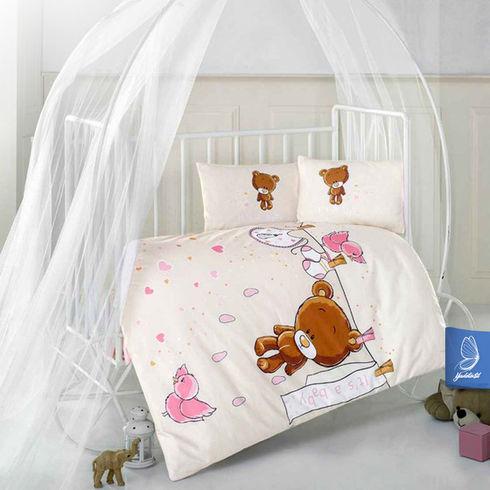 100x135 set. Größe cm Teddy V1 Baby Bettwäsche V1 Größe 3tlg.