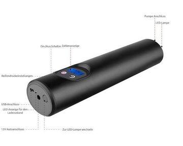 Taschenlampe Elektrische Fahrradpumpe 12V bis 150 PSI mit LCD-Display u