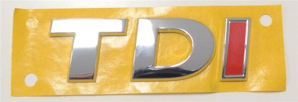 AUDI SEAT VW SKODA TDI SILBER ROT Emblem Wappen Embleme Original 5G0853675A