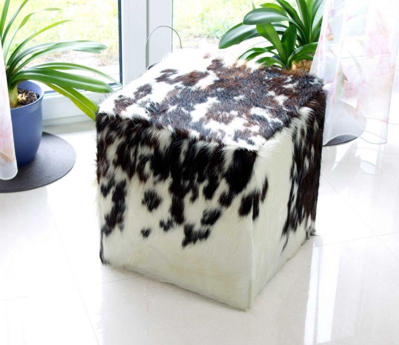 designer sitzw rfel hocker aus echtem kuhfell in verschiedenen ausf hrungen 39409697740 ebay. Black Bedroom Furniture Sets. Home Design Ideas