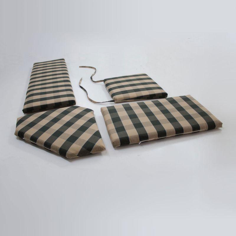 4 teiliger set eckbank auflagen auf ma wunsch stoff rei verschluss abziehbar ebay. Black Bedroom Furniture Sets. Home Design Ideas