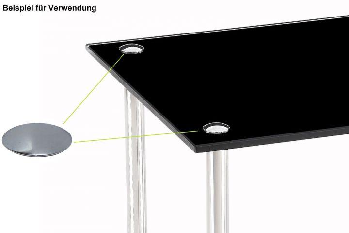 m bel endkappe abdeckung chrom deckel zierkappe abdeckkappe gewinde m6 ebay. Black Bedroom Furniture Sets. Home Design Ideas