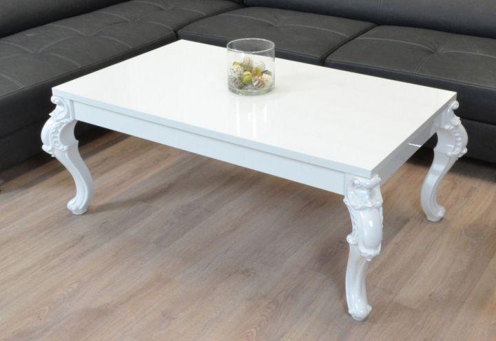couchtisch hochglanz weiss wohnzimmer lack tisch kratzfest barock beistelltisch ebay. Black Bedroom Furniture Sets. Home Design Ideas