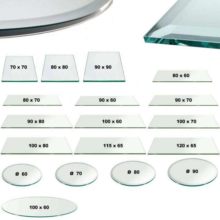 glasplatte klar glas 6mm tisch facette sicherheitsglas tischplatte glasscheibe ebay. Black Bedroom Furniture Sets. Home Design Ideas