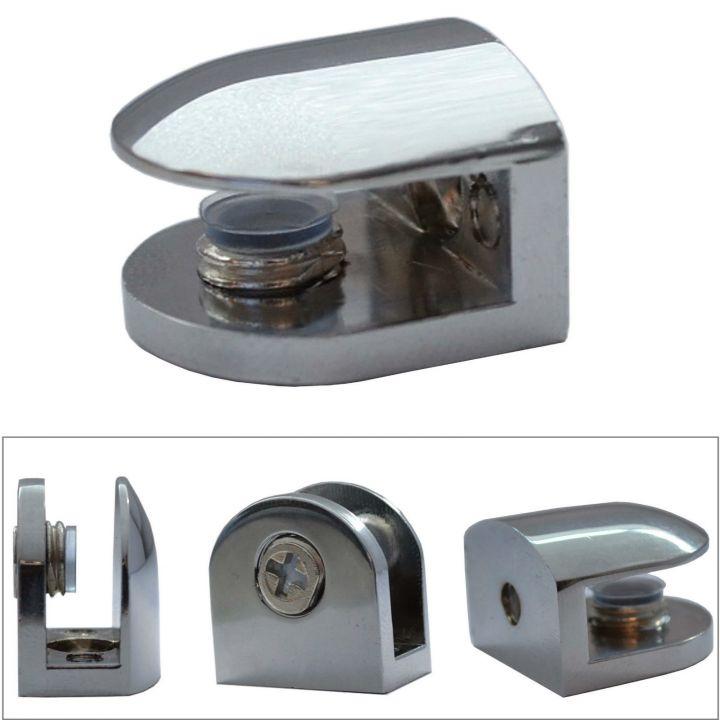 regalhalter 2x glasbodentr ger chrom glasbodenhalter regalbodentr ger glasplatte ebay. Black Bedroom Furniture Sets. Home Design Ideas