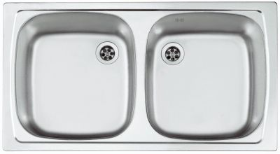 Alveus Lavello Cucina 780x435 mm Incasso Campeggio Acciaio Inox ...