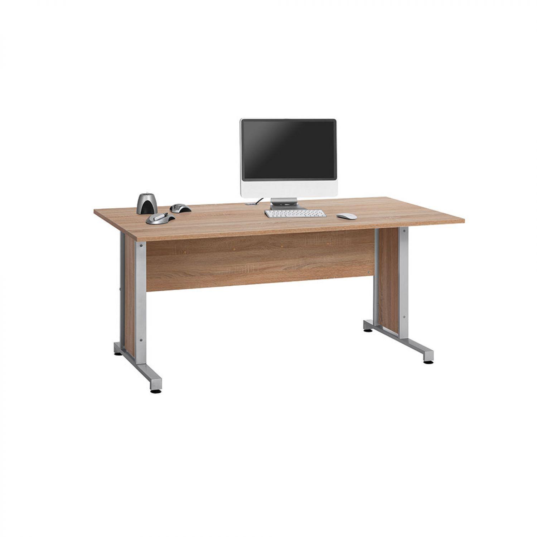 Büro Möbel Schreibtisch Computertisch PC-Tisch 160 cm Arbeitstisch SONOMA EICHE