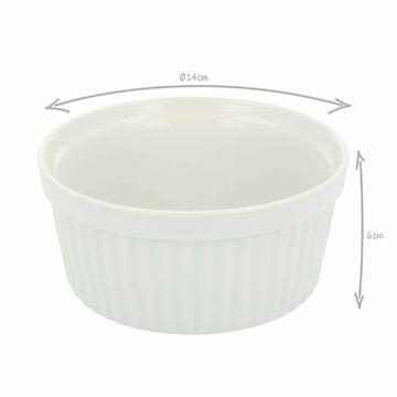 4 Auflaufformen Auflaufförmchen Porzellan Ragout Ofenform Creme Brulee 600ml