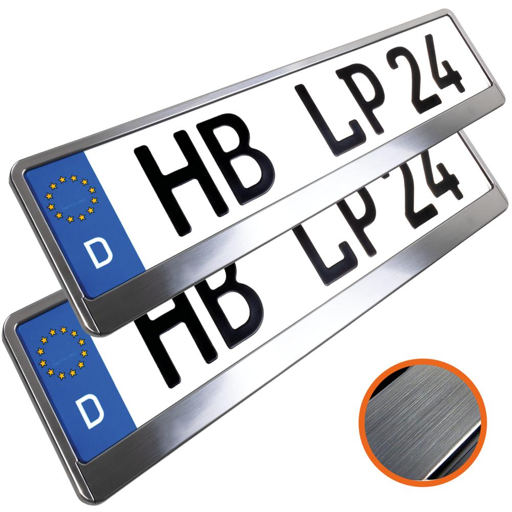 1 Paar Kennzeichenhalter farbig rot Kennzeichenhalterung Kennzeichenrahmen Nummernschildhalter