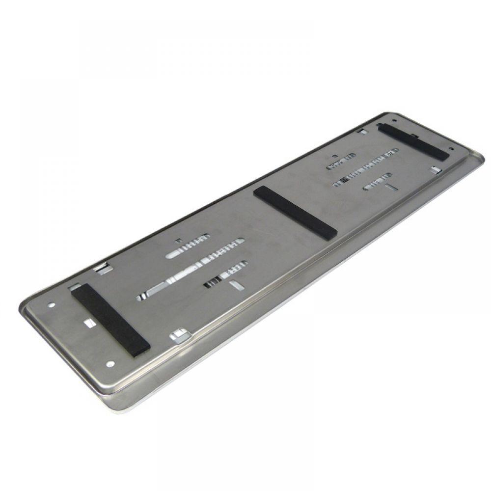 Intersale 2 x portatarga 100/% in acciaio INOX lucido