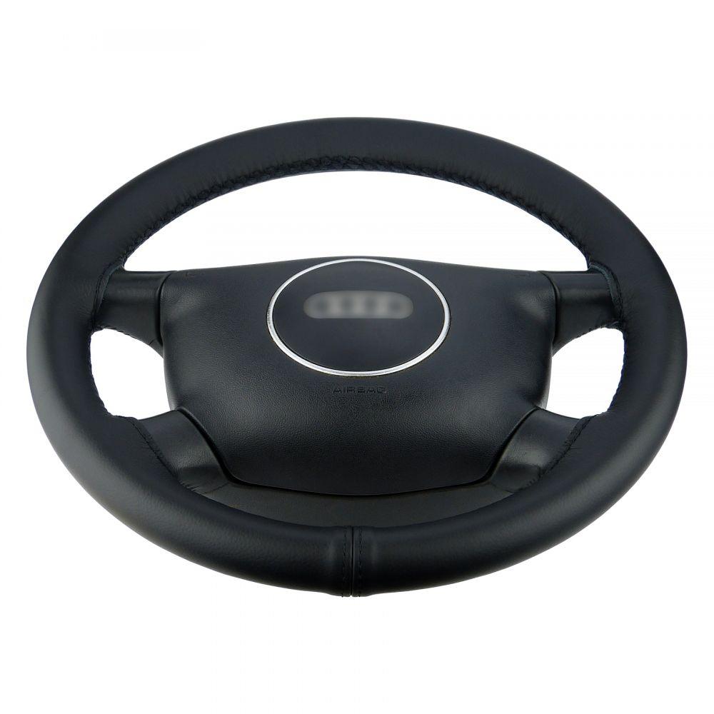 Lenkradhülle Lenkradbezug Echtleder Lenkrad Bezug passend Seat Ibiza 6L Naht rot