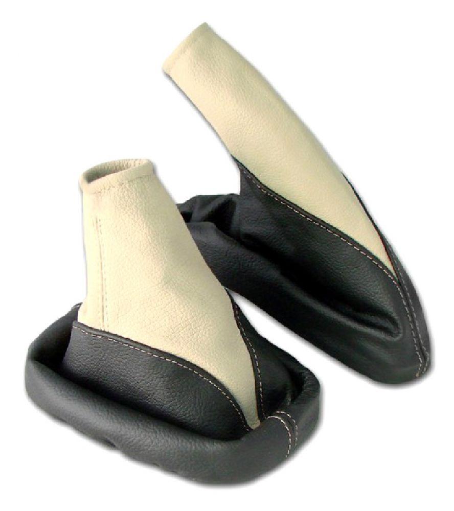 Rot L/&P A106-2 Schaltsack Schaltmanschette Handbremsmanschette aus 100/% ECHTLEDER Leder in Schwarz