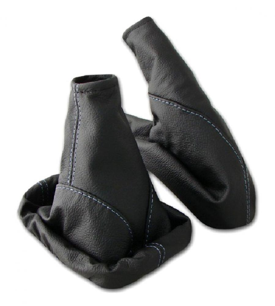 Schaltsack Handbremssack HELLGRAU-SCHWARZ passend für OPEL ASTRA G  Echt Leder