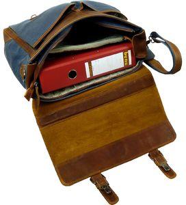 63f369d4703da Die Officetasche für Damen und Herren ist (BxHxT) 41x32x11 cm groß und mit  dem stabilen Henkel und einem Umhängeriemen für den Transport von einem  Ordner