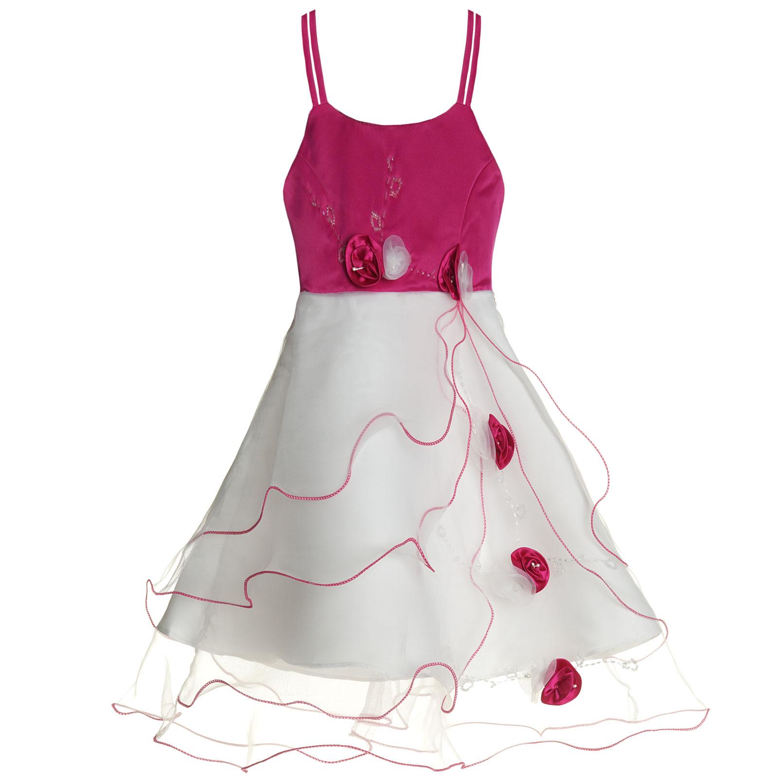 Maedchen-Kinder-Kleid-Peticoat-Festkleid-Lang-Arm-Kostuem-mit-Bolero-Rose-21476 Indexbild 12