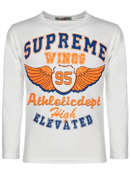 Jungen Langarmshirt Pullover Sweater Pulli Sweat Shirts ER Motiv Druck 30138