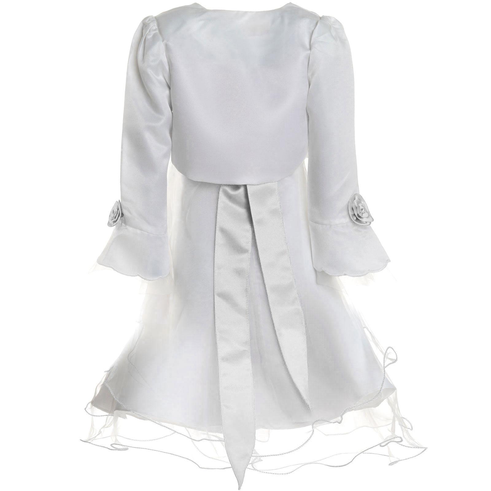 Maedchen-Kinder-Kleid-Peticoat-Festkleid-Lang-Arm-Kostuem-mit-Bolero-Rose-21476 Indexbild 23