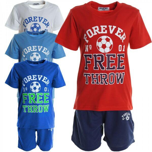 Baby Set  2 Tlg Sommer  Set für Junge T-Shirt Latzhose Kurzarm Shirt Kurzhose