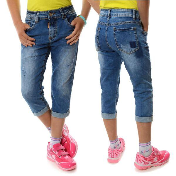 Kinder Mädchen Sommer Capri kurze Hose Bermuda Shorts Pumpcapri Jeans Army Neu