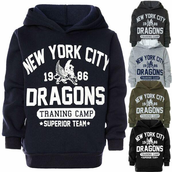 Kinder Hoodie Kapuzen Pullover Sweat-Shirt Jungen Sweater Sweatjacke Pulli 22881