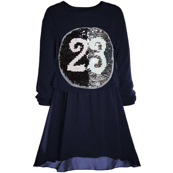 Mädchen Spitze Wende Pailletten Kleid Peticoat Fest Kostüm Tunika Kleider 20997
