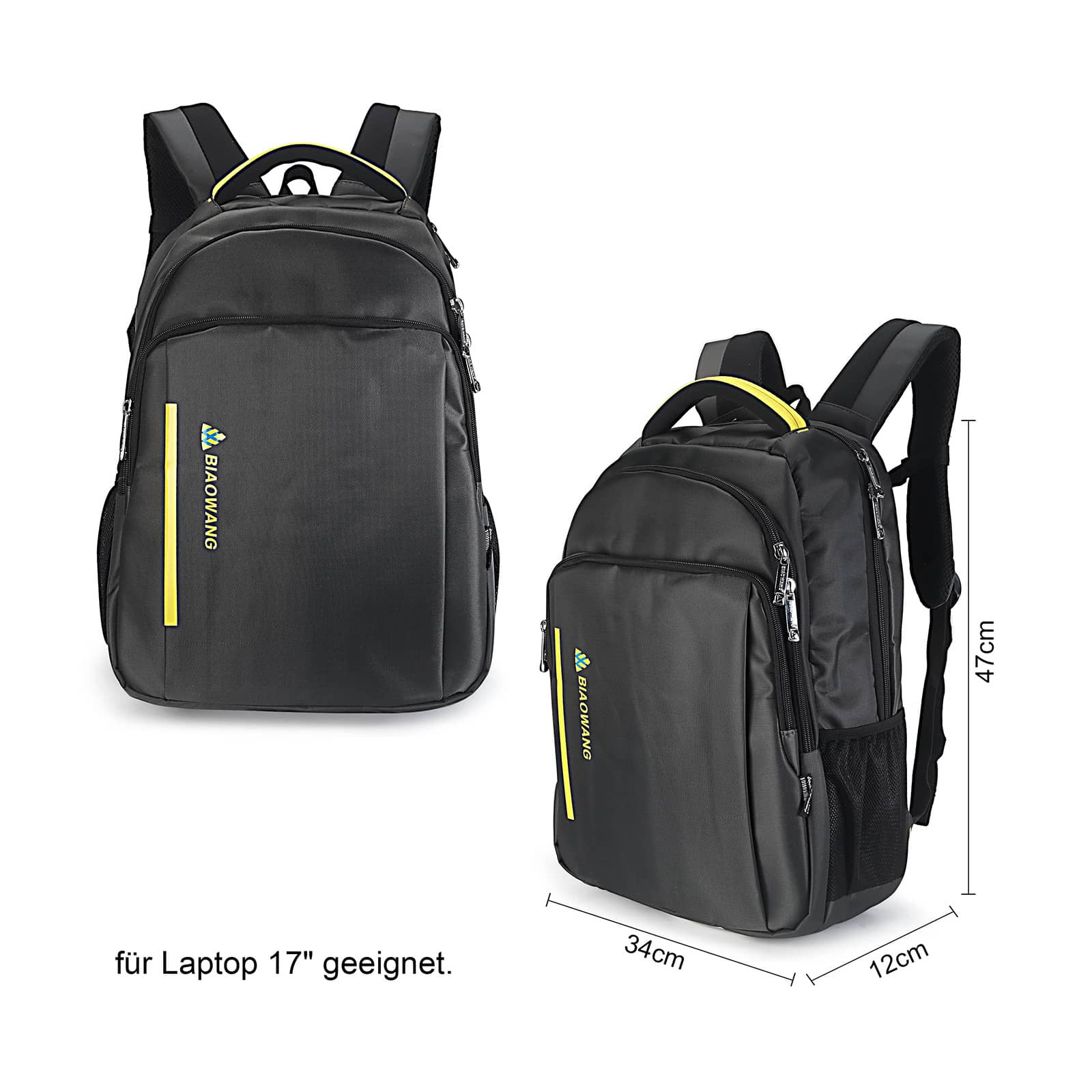 Reise Freizeit Schule Laptop Rucksack Sport Ranze Tasche 20L Groß Leicht Stabil