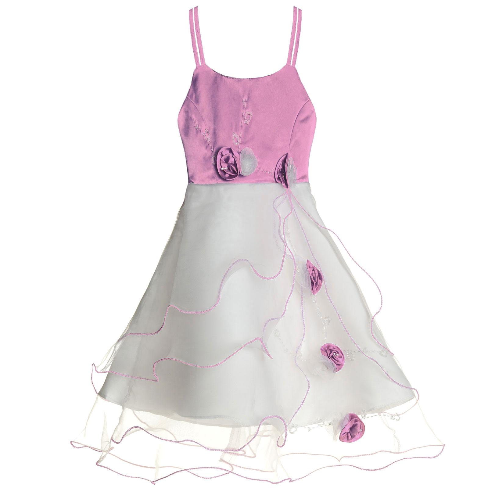 Maedchen-Kinder-Kleid-Peticoat-Festkleid-Lang-Arm-Kostuem-mit-Bolero-Rose-21476 Indexbild 16